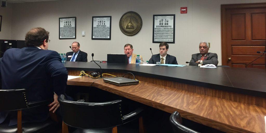 Senator Josh McKoon presents his bill, SB 6 to the House Judiciary subcommittee