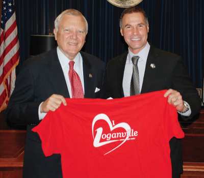 Georgia Governor Nathan Deal and Loganville city council member Rey Martinez