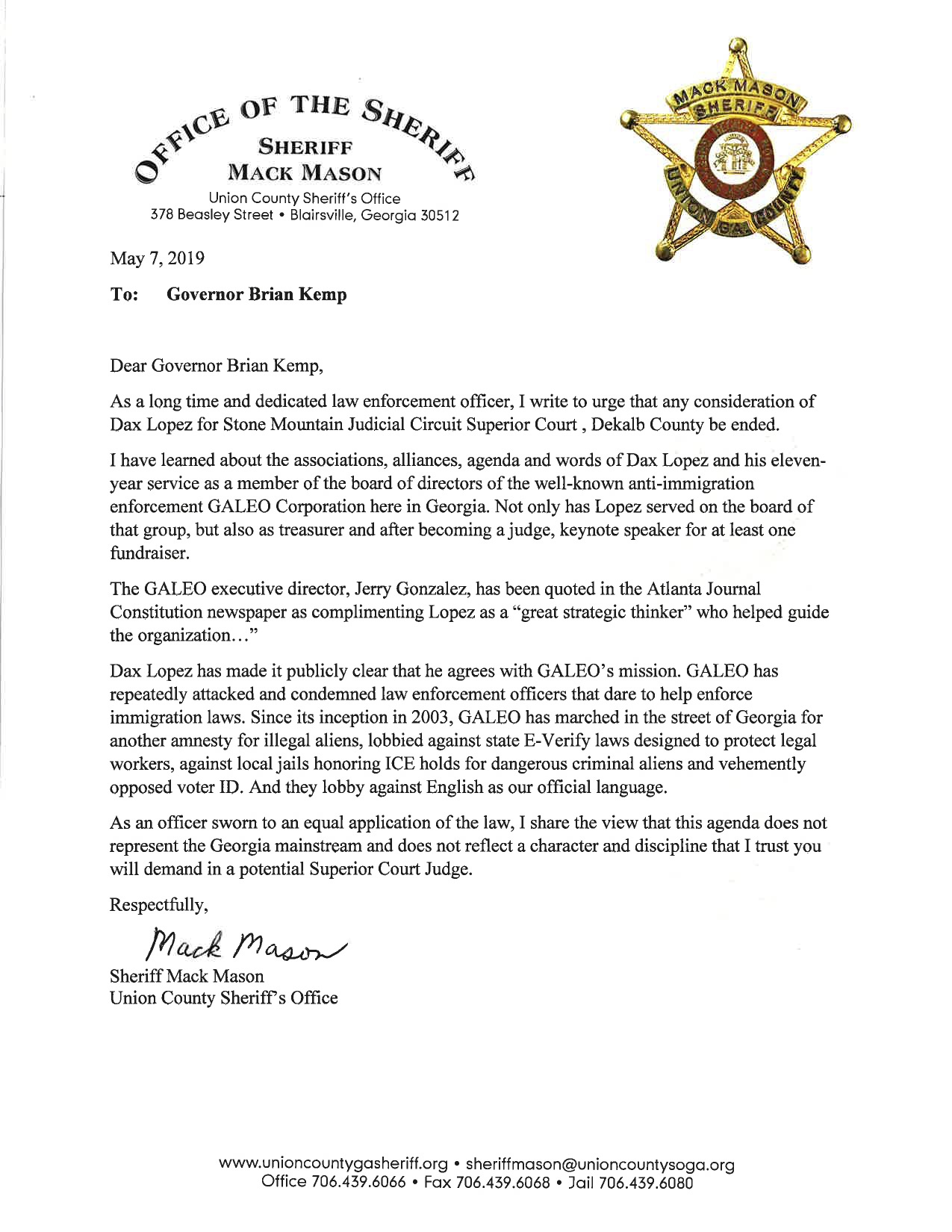 The Dustin Inman Society Blog » Letter to Governor Brian Kemp from