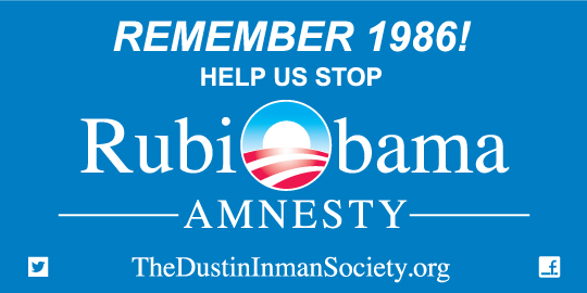 Dustin Inman Society RubiObama bumper sticker