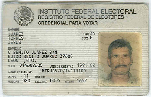 mexico voter registration card